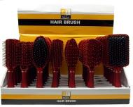 DT Hairbrush Red Assorted 6pk